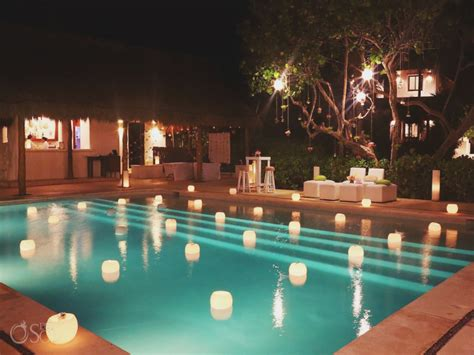 floating pool lights for wedding the candle boutique destination wedding decoration ideas