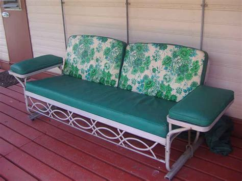 vintage patio glider vintage sofa glider reversadermcream