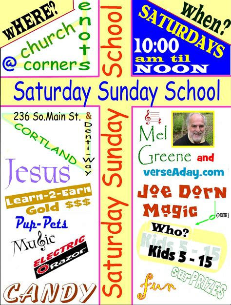 Sunday School Invitation Flyer Exles Sunday School Flyer Template