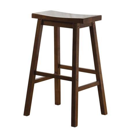 wood home decorators collection special values bar stools shop american heritage billiards wood saddle walnut 24 in