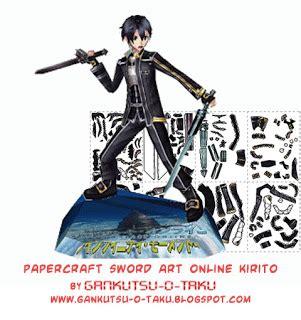 Papercraft Kirito - ninjatoes papercraft weblog papercraft sword