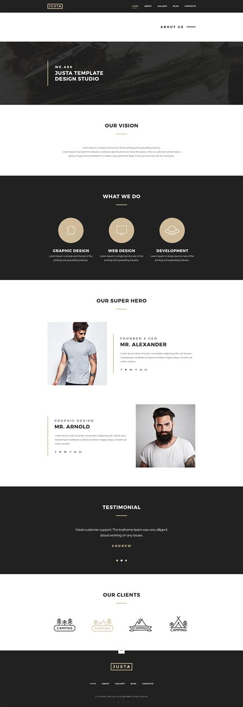 html5 template business justa business html5 template by timsolution themeforest