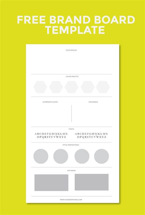 Creating A Brand Board For Your Blog Graphics Design Pinterest Brand Board Template And Board Personal Branding Powerpoint Template