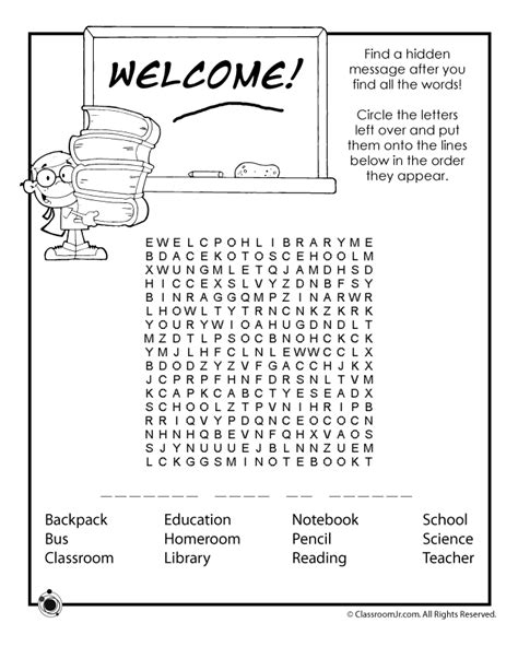 printable school activity sheets back to school worksheets back to school word search