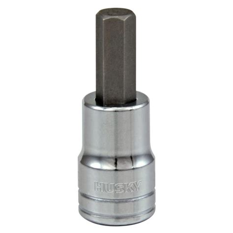 home depot l socket husky 3 8 in drive 1 4 in hex bit socket h3dhbs14 the