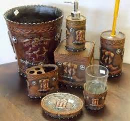 Cowboy Bathroom Ideas Savannah Tooled Mustard Bath Set