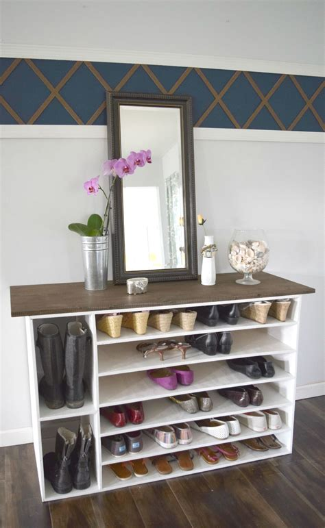 diy shoe shelf plans stylish diy shoe rack for any room