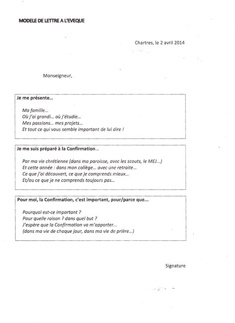 Demande De Confirmation Lettre Modele Lettre Eveque Confirmation Document