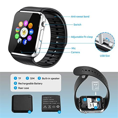 bluetooth smart wrist watch tf sim phone mate for ios best smartwatch sweatproof bluetooth smart wrist watch