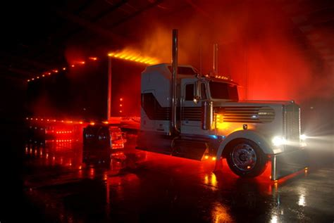 kenworth w900 bumper with lights nite light kenworth at other cars background