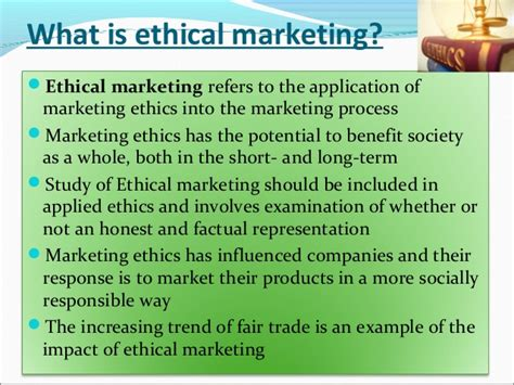 Research Papers On Marketing Ethics by Marketing Ethics