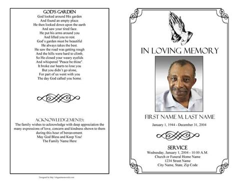 funeral program template microsoft word best template