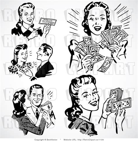 drawings of 1950 boy s hairstyles royalty free vector retro clip art of a black and white