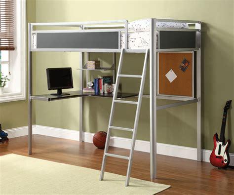 loft beds with desk 15 functional metal loft bed with desk bedroomm