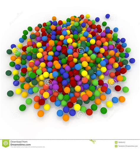 a lot a lot of balls stock illustration image of blue 19945412