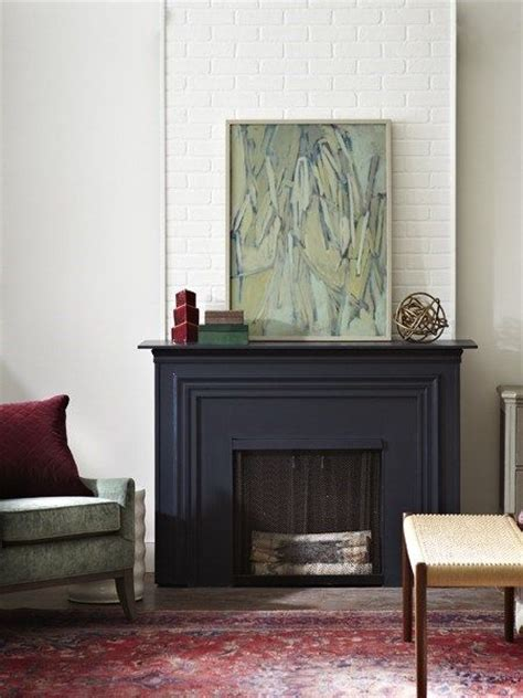 painting fireplace matte black for the home