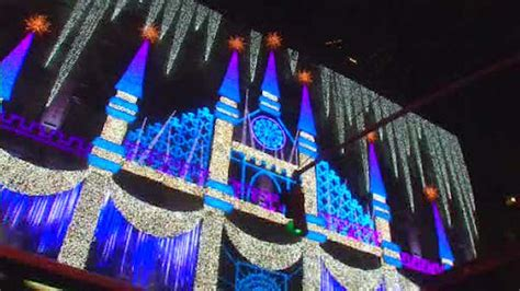 saks fifth avenue unveils holiday light show winter