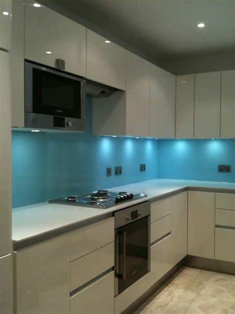 kitchen splashback designs i love the glass as a reflective surface blue kitchen