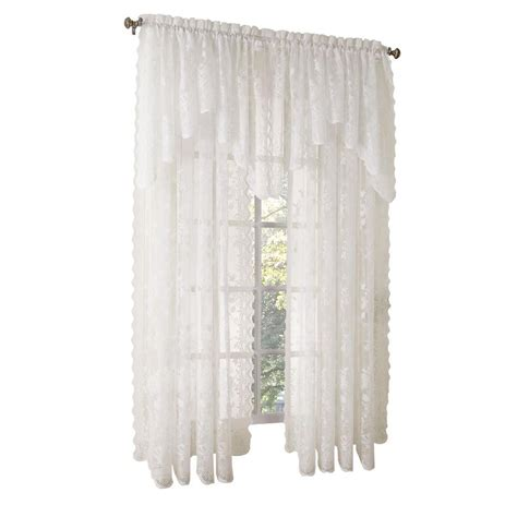 swag ls home depot lichtenberg ivory alison lace curtain swag 58 in w x 32