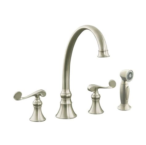 kitchen faucets 4 hole brushed nickel faucets ideas 4 hole kitchen faucet brushed nickel
