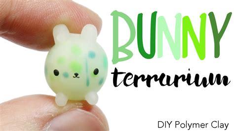 youtube tutorial polymer clay how to diy translucent bunny terrarium polymer clay