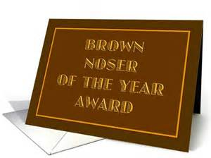 Congratulations On Your Divorce Card Brown Noser Of The Year Award Card 512295