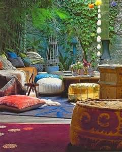 Porch Christmas Decor 37 Beautiful Bohemian Patio Designs Digsdigs