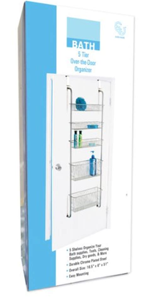 bathroom door storage 5 tier over the door storage organizer bathroom laundry