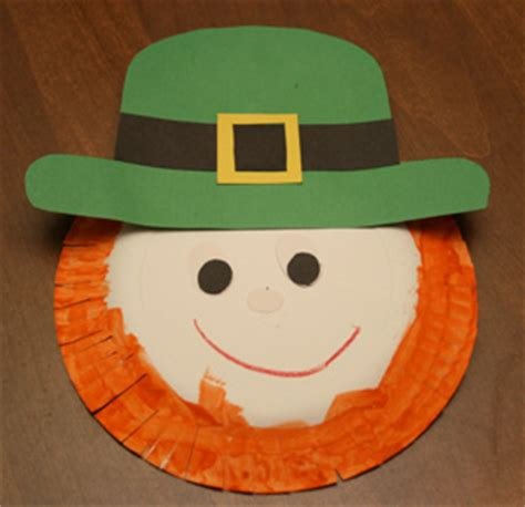 Easy Paper Plate Crafts - st s day leprechaun paper plate craft preschool