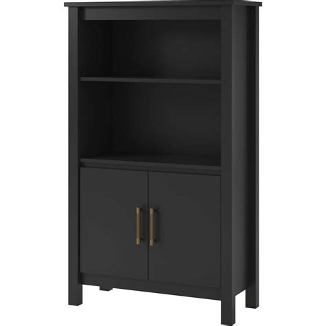 3 shelf bookcase with doors ameriwood home eastwood 3 shelf bookcase with doors