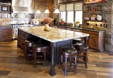rustic kitchen islands with seating kitchen island with seating practical and functional ideas