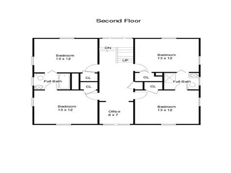 simple square house floor plans one story square house
