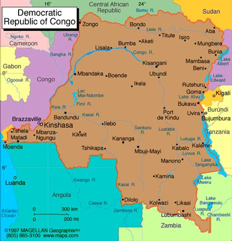 political map of the republic ms k s africa geography project democratic republic of