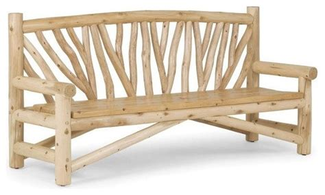 rustic outdoor bench 1504 by la lune collection rustic
