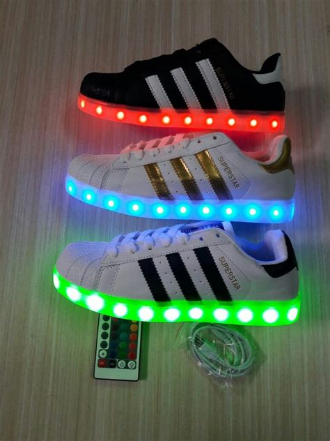 adidas led superstar    dus adidas rb shoes