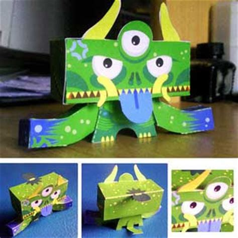 Papercraft Monsters - papercraft yakubyogami paperkraft net free