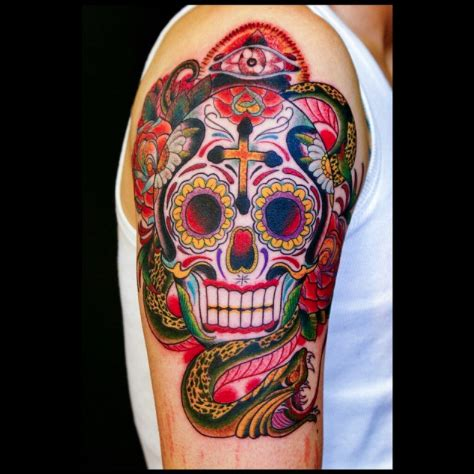 tattoo old school hibou signification top 60 des plus belles t 234 tes de mort mexicaines