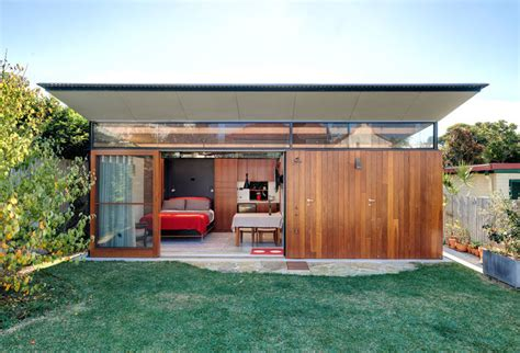 This Impressive Backyard Shed Combines Living Quarters A Backyard Studio With Bathroom