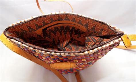 Tas Anyam Kulit Asli Handmade Doff stupa sling bag rainbow 5 tas kulit asli anyam slempang