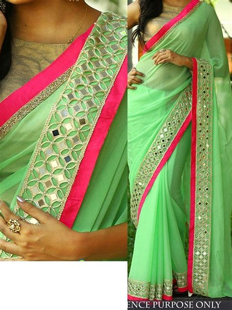 pista green color buy pista green color nylon georgette designer party wear