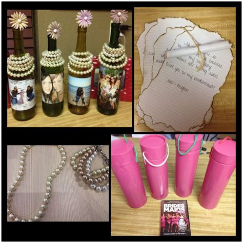 Handmade Bridesmaid Gifts - bridesmaid gifts diy message in a bottle diy