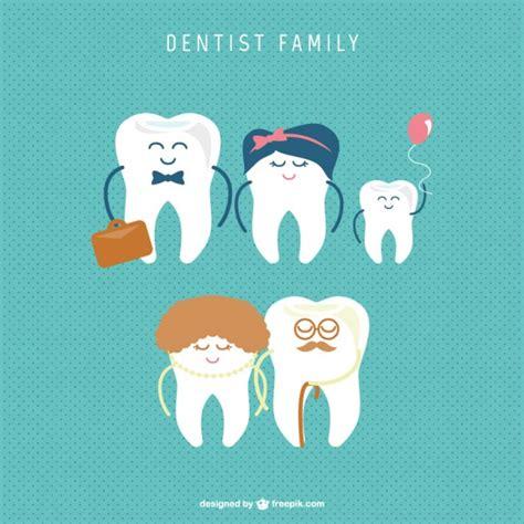 imagenes odontologicas animadas vector de familia de dientes descargar vectores gratis