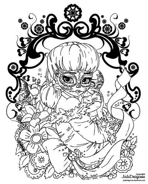 dia de los muertos art coloring pages dia de muertos madonna lineart by jadedragonne on deviantart