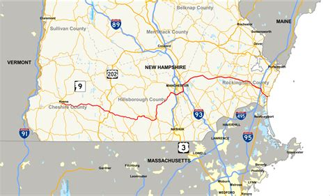 unh map new hshire route 101