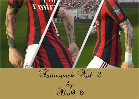 tattoo pack pes 2018 pes 2018 tattoopack vol 2 by sho9 6 pes patch