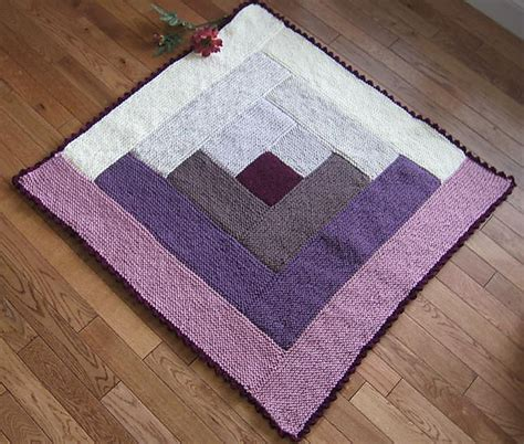 knits log cabin blanket bumbleberry flan pattern by margaret macinnis count