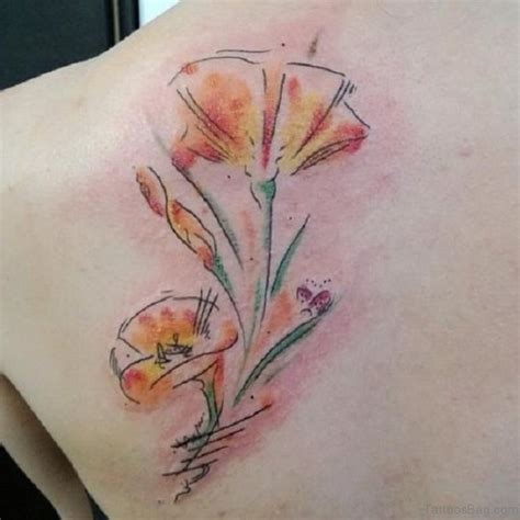 poppy and rose tattoo 60 well formed poppy tattoos on back