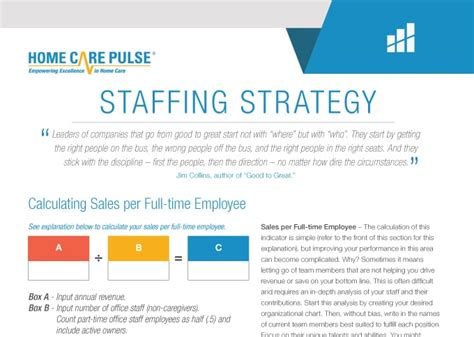 Staffing Strategy Tool Home Care Pulse Strategic Staffing Plan Template