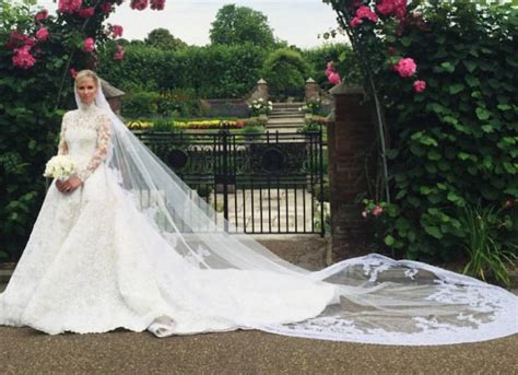 nicky hilton wedding dress nicky hilton stuns in valentino haute couture to wed james