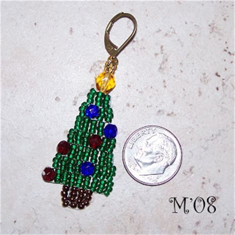 christmas tree earring pattern living with threemoonbabies christmas beaded earring patterns